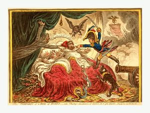 Comfort of a Bed of Roses, Gillray, James, 1756-1815, engraver, [London] : H. Humphrey