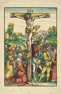 Drawings and Prints, Print, The Crucifixion (restrike?), Artist, Hans SchA€ufelein