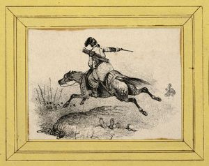 Drawings and Prints, Print, Soldier on galloping horse, Artist, Victor Adam, French