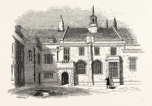 Great Hall, Charter House, London, England, engraving 19th century, Britain, UK
