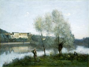 Jean-Baptiste-Camille Corot, Ville-d'Avray, French, 1796-1875, c. 1865, oil on canvas