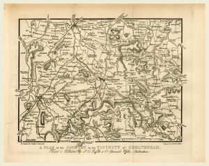 Map, Griffith's new historical description of Cheltenham and its vicinity, 19th