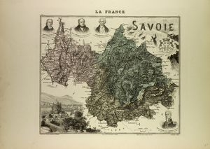 MAP OF SAVOIE, 1896, FRANCE