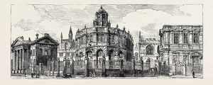 OXFORD: THE OLD ASHMOLEAN, THE SHELDONIAN THEATRE, FROM BROAD STREET