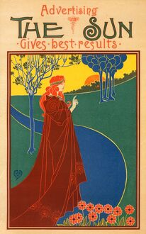 Poster for The Sun, New-York. Rhead, Louis 1857-1926, Artist