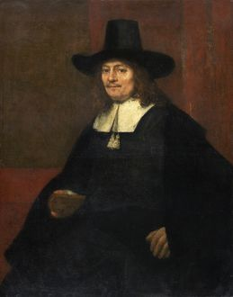 Rembrandt van Rijn (Dutch, 1606 - 1669), Portrait of a Man in a Tall Hat, c. 1663