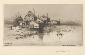 Shanties on the Harlem, 1882, Etching; published state, plate: 4 3/16 x 7 3/4 in