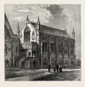 ST. STEPHEN'S CHAPEL, 1830, Westminster, London, UK, 19th century engraving
