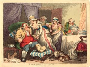 Thomas Rowlandson (British, 1756 - 1827 ), Comfort in the Gout, 1785, hand-colored