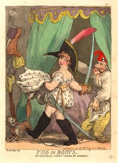 Thomas Rowlandson (British, 1756 - 1827 ), Puss in Boots, or General Junot taken