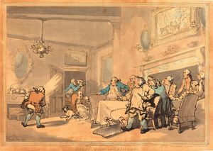 Thomas Rowlandson (British, 1756 - 1827 ), The Disappointed Epicures, 1787, hand-colored