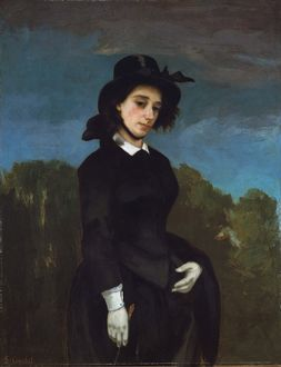 Woman in a Riding Habit (L'Amazone), 1856, Oil on canvas, 45 1/2 x 35 1/8 in. (115