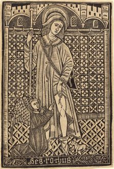 Workshop of Master of the Cologne Arms, Saint Roche, 1480 or after, metalcut